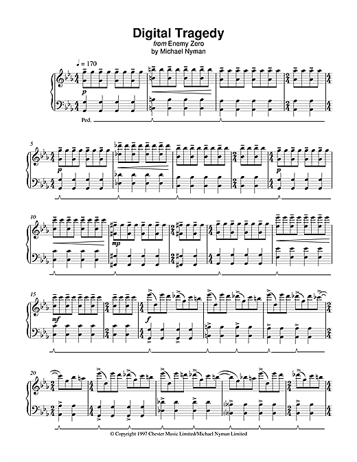 Digital Tragedy (from Enemy Zero) Sheet Music