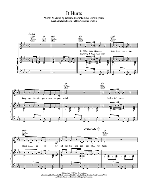 It Hurts Sheet Music
