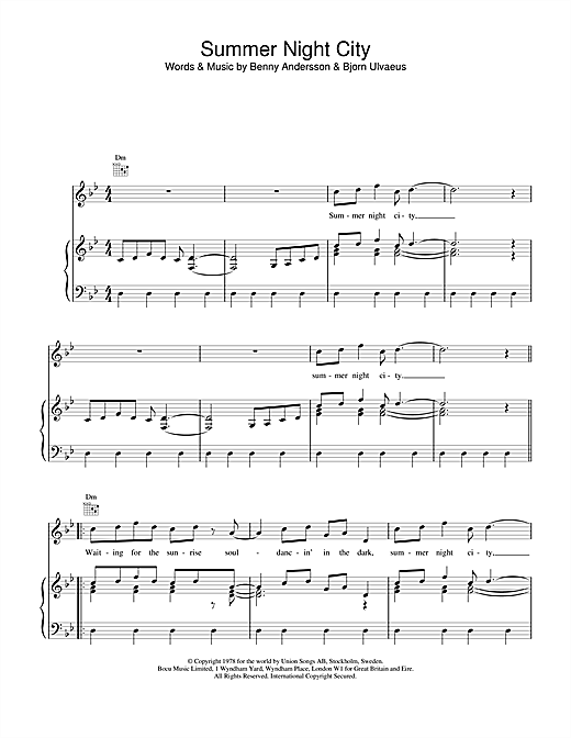 Summer Night City Sheet Music
