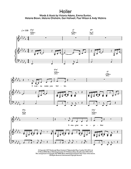 Holler Sheet Music