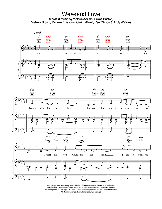 Weekend Love Sheet Music