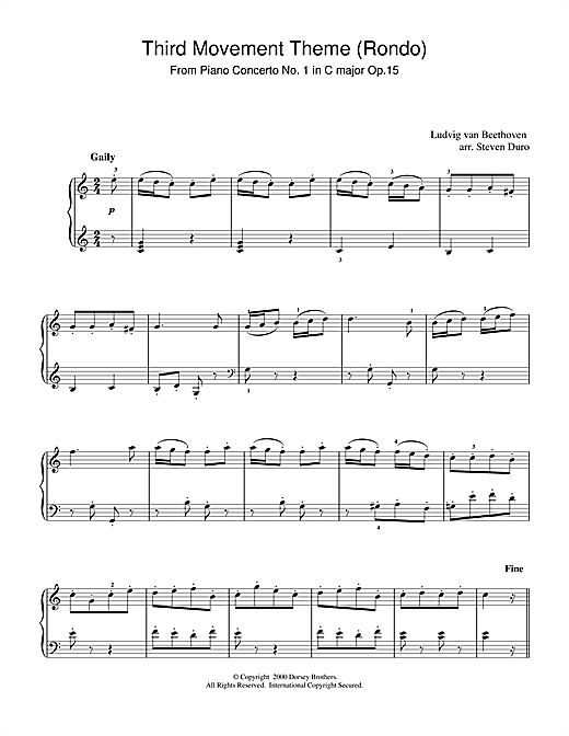Piano Concerto No.1 in C Major Op.15, Rondo Sheet Music