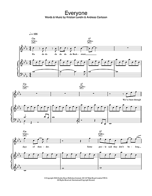 Everyone Sheet Music