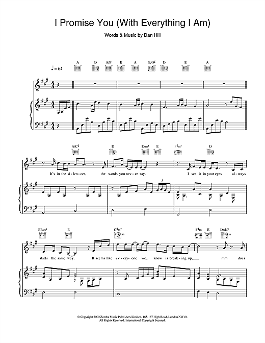 I Promise You Sheet Music