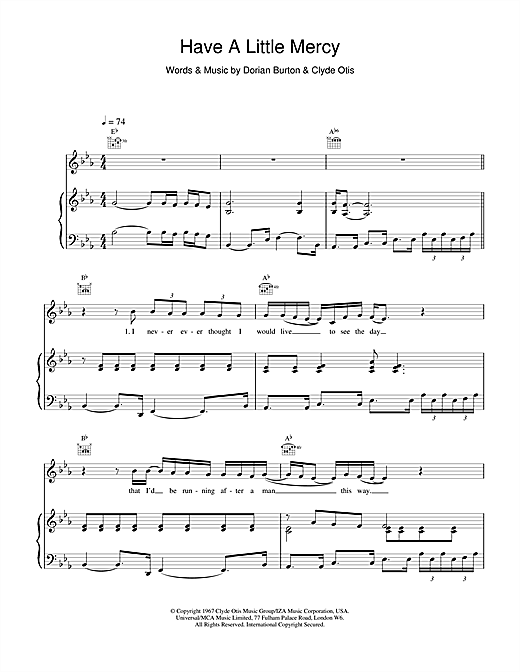 Have A Little Mercy Sheet Music