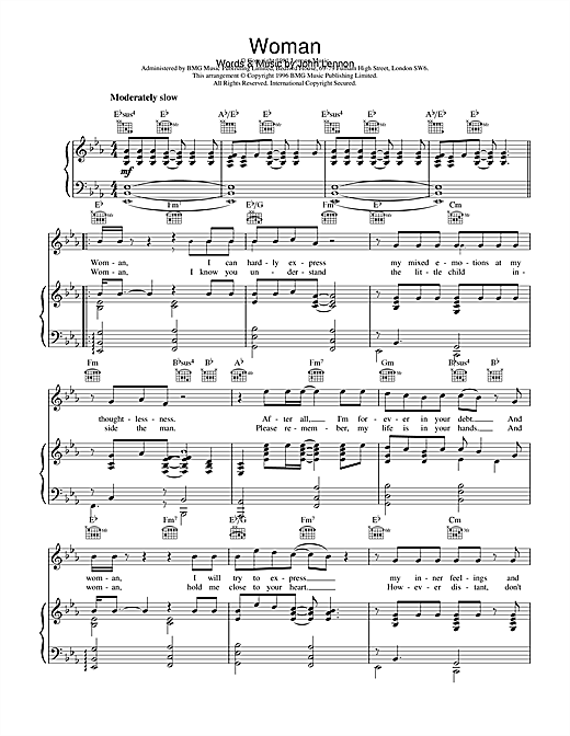 Woman Sheet Music