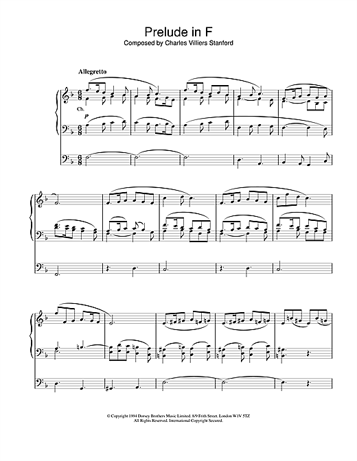 Prelude in F Sheet Music