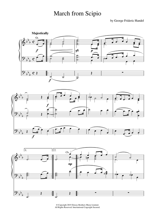 March from Scipio Sheet Music