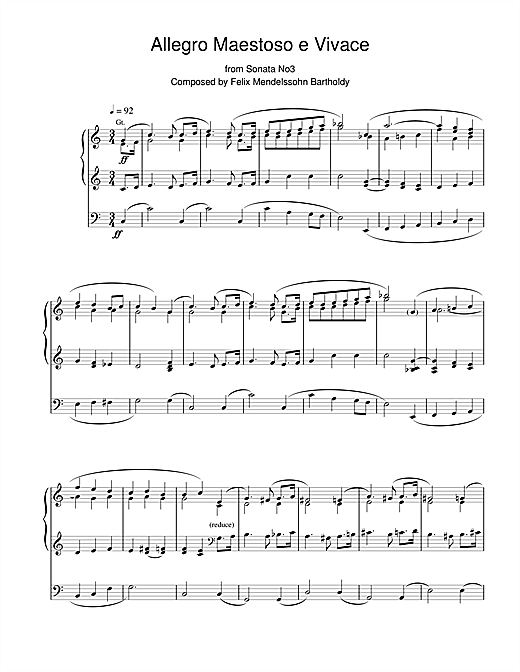 Allegro Maestoso E Vivace From Sonata No.3 Sheet Music