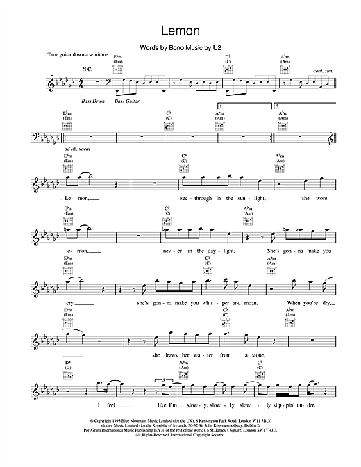 Lemon Sheet Music