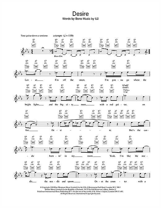 Desire (Lead Sheet / Fake Book)