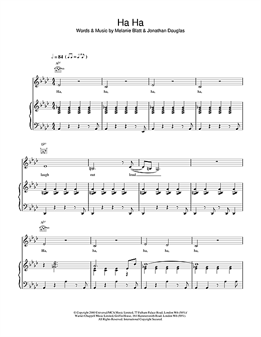 Ha Ha Sheet Music