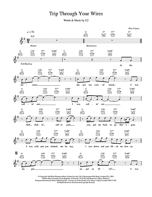 Trip Through Your Wires Sheet Music