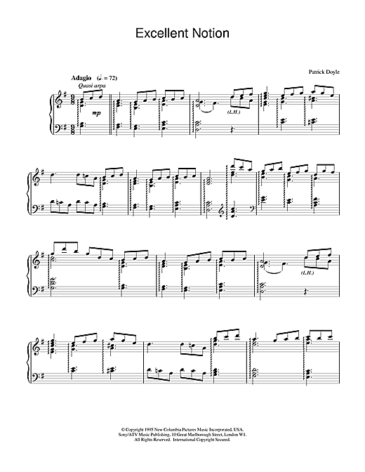 Excellent Notion Sheet Music