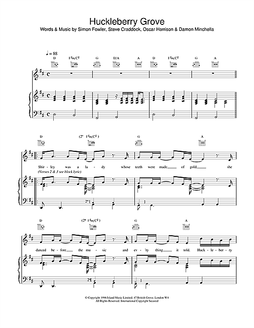 Huckleberry Grove Sheet Music