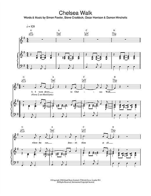Chelsea Walk Sheet Music