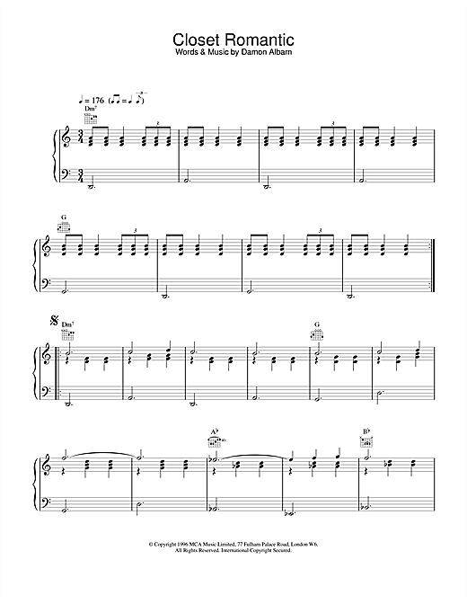 Closet Romantic Sheet Music