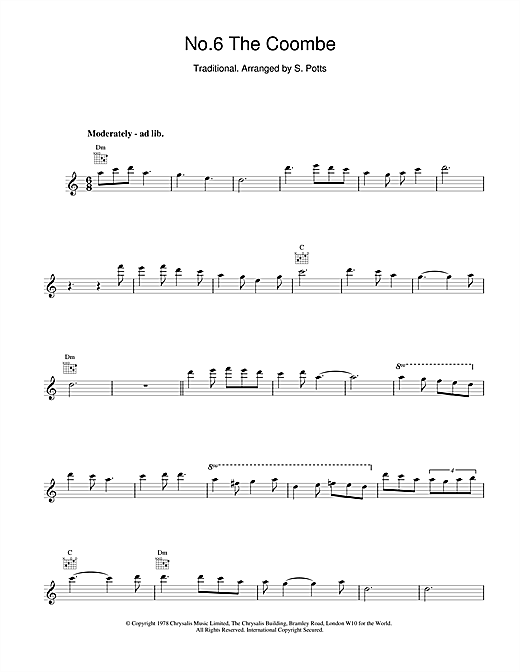 No.6 The Coombe (Lead Sheet / Fake Book)