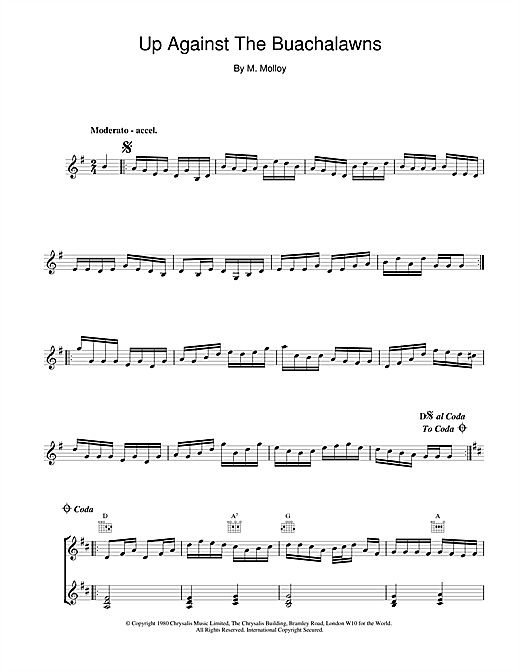 Up Against The Buachalawns Sheet Music