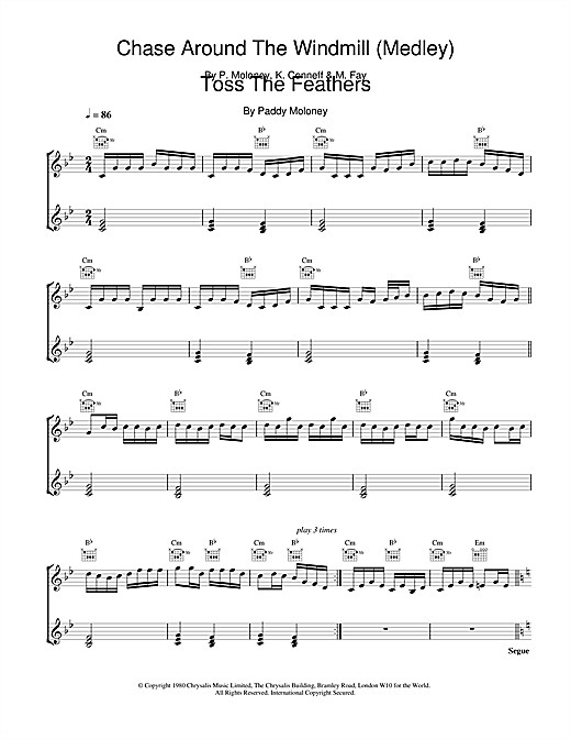 Partition piano Chase Around The Windmill (Medley);Toss The Feathers de The Chieftains - Piano Solo