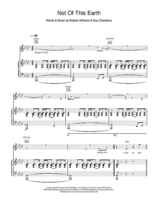Not Of This Earth Sheet Music