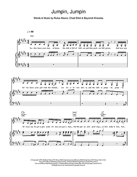 Jumpin, Jumpin Sheet Music