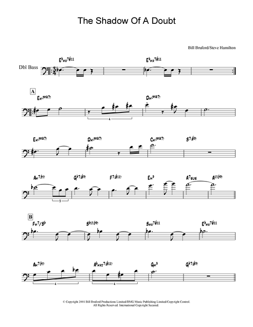 The Shadow Of A Doubt Sheet Music