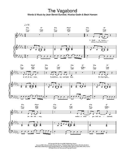 The Vagabond Sheet Music