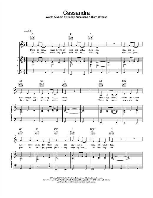 Cassandra Sheet Music
