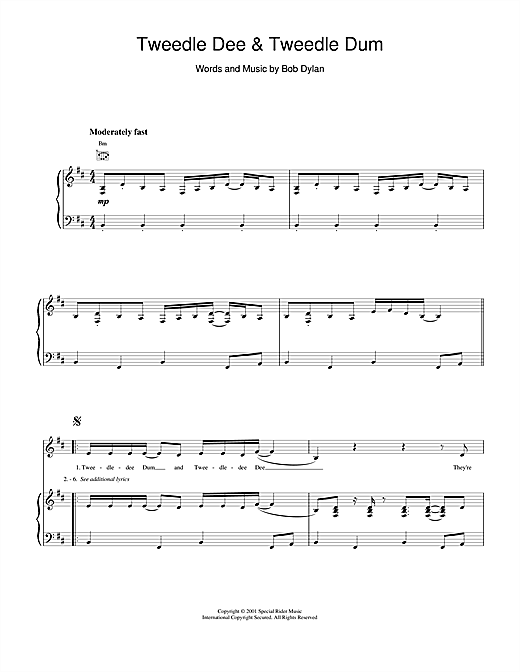 Tweedle Dee & Tweedle Dum Sheet Music