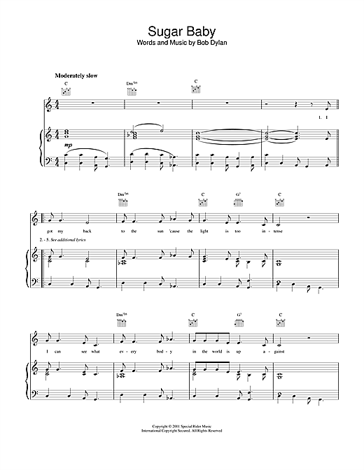 Sugar Baby Sheet Music