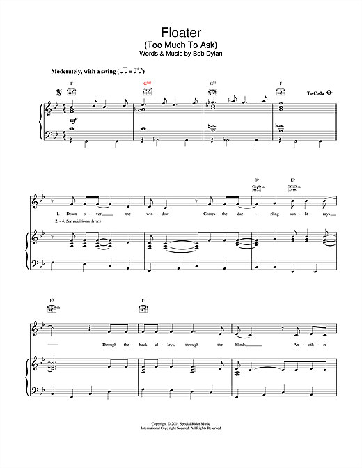 Floater Sheet Music