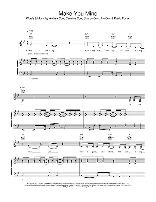 Make You Mine Sheet Music