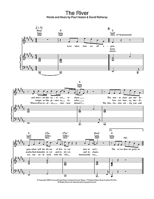 The River Sheet Music