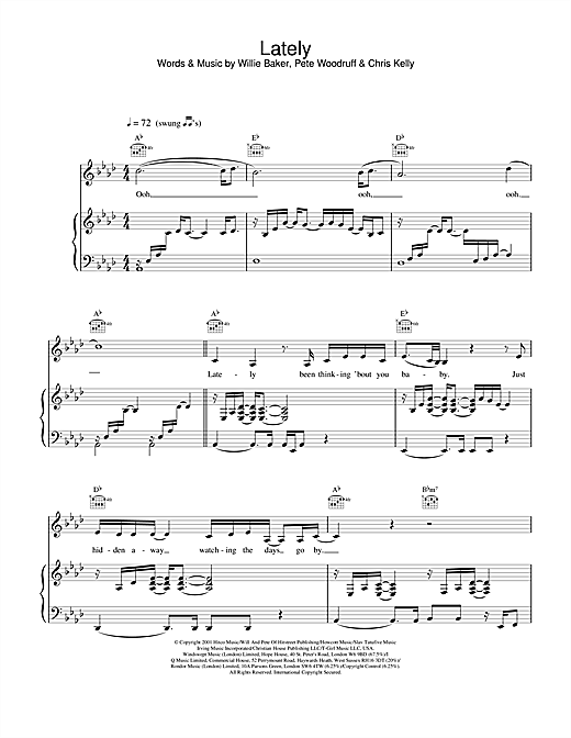 Lately Sheet Music