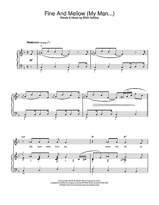 Fine And Mellow (My Man...) Sheet Music
