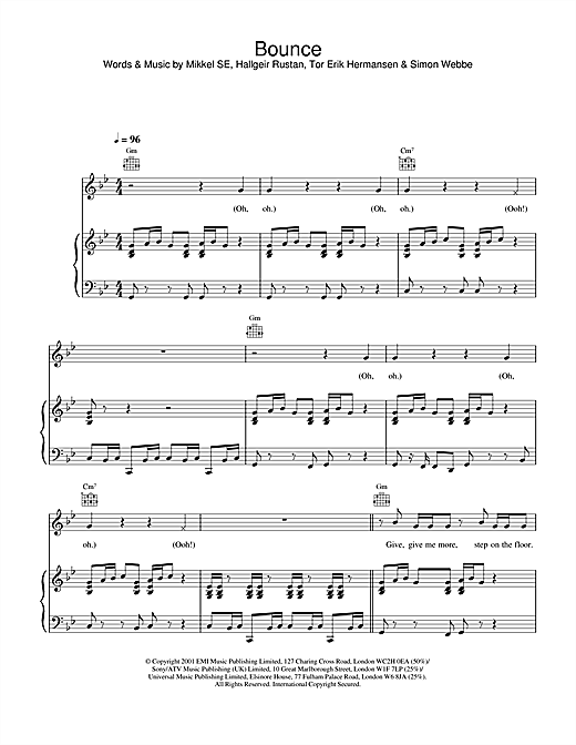 Bounce Sheet Music