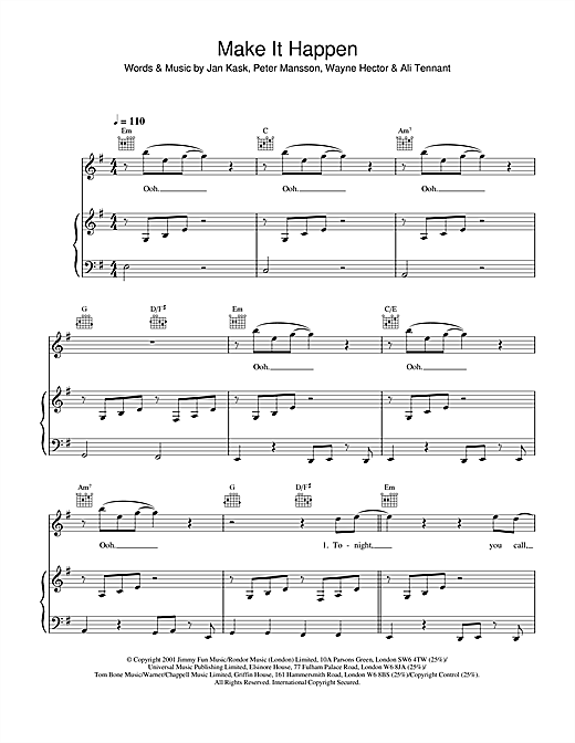 Make It Happen Sheet Music