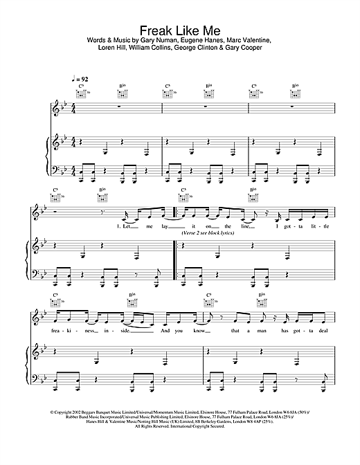 Freak Like Me Sheet Music