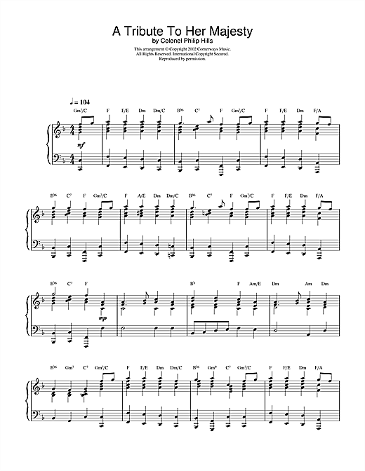 A Tribute To Her Majesty Sheet Music