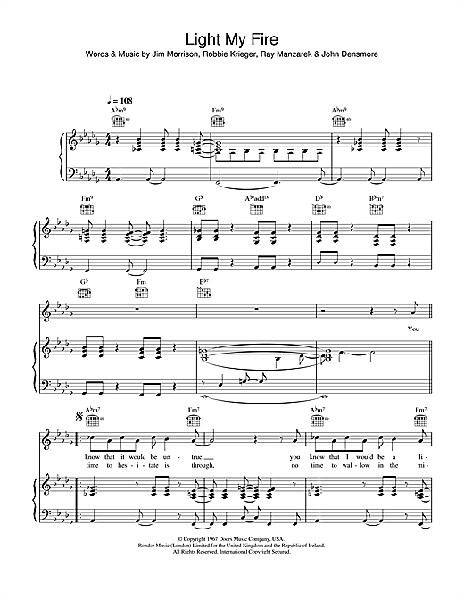 Light My Fire Sheet Music