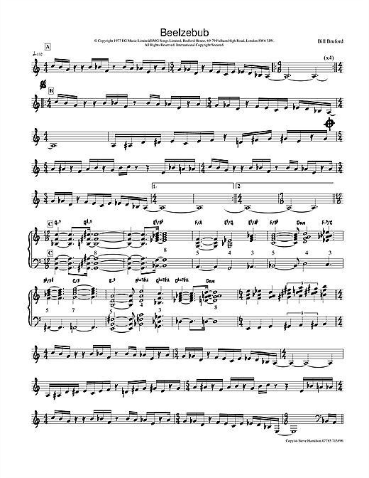 Beelzebub (Lead Sheet / Fake Book)