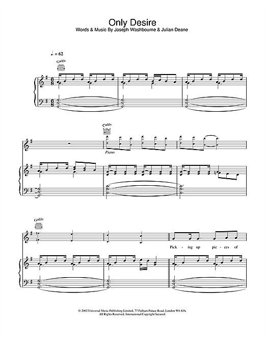 Only Desire Sheet Music