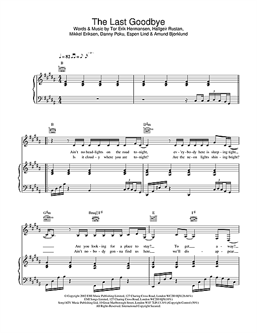 The Last Goodbye Sheet Music