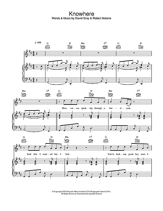 Knowhere Sheet Music