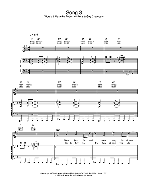 Song 3 Sheet Music