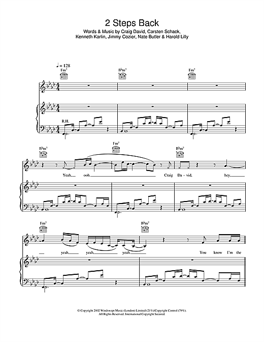 2 Steps Back Sheet Music