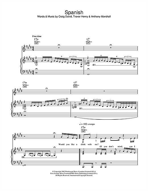 Spanish Sheet Music