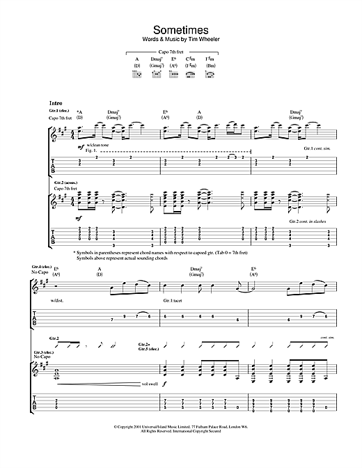 Sometimes Sheet Music