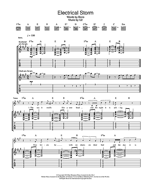 Electrical Storm (Guitar Tab)
